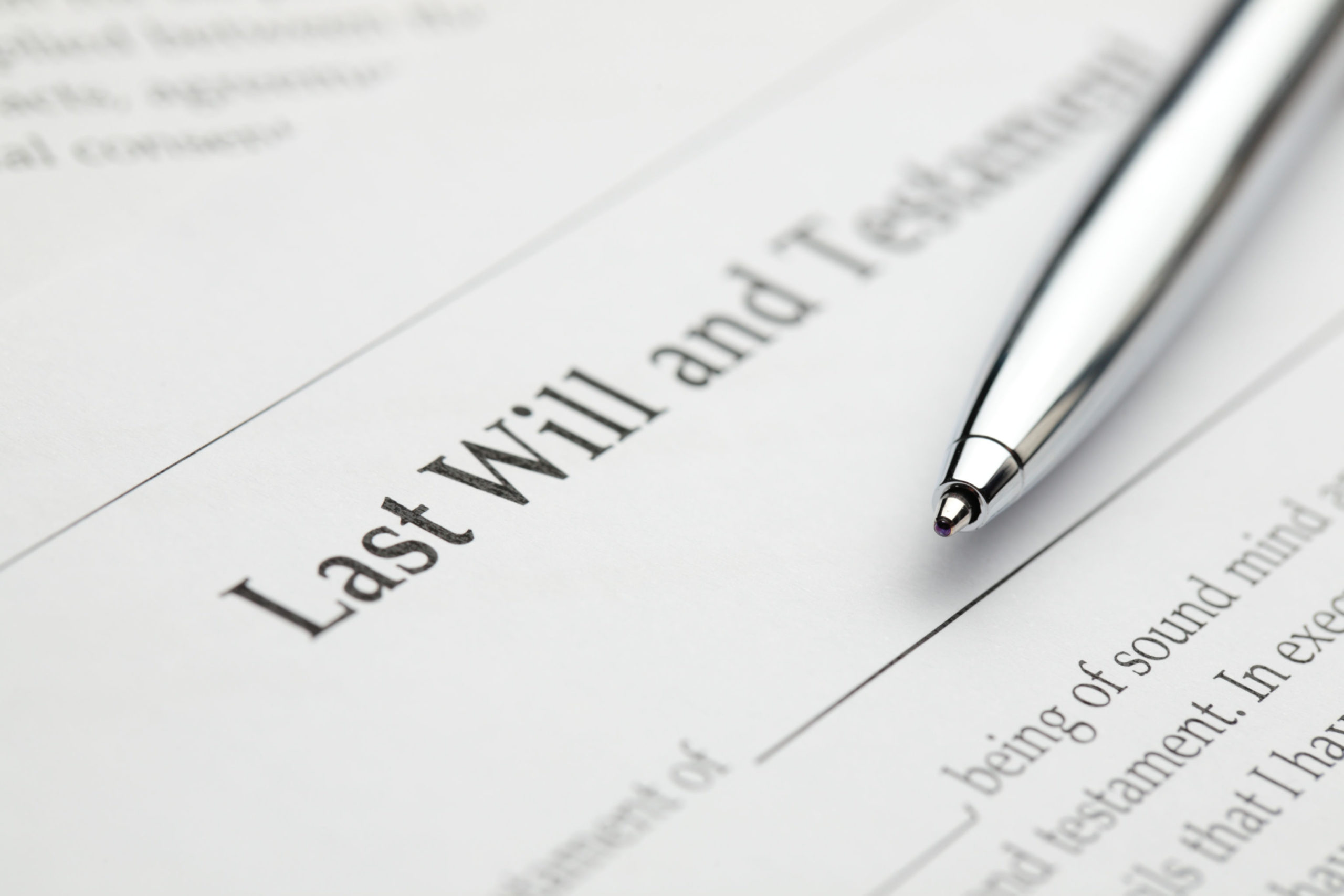 a document that says last will and testament