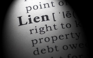 "A snapshot of the word ""lien"" in a dictionary"